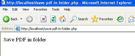 Save PDF in folder