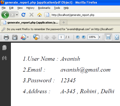 generate pdf form vfp report: