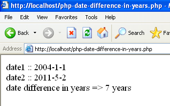 php date diff