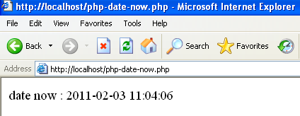 php date now